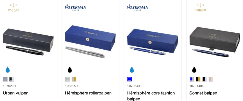 Pens made in Europe