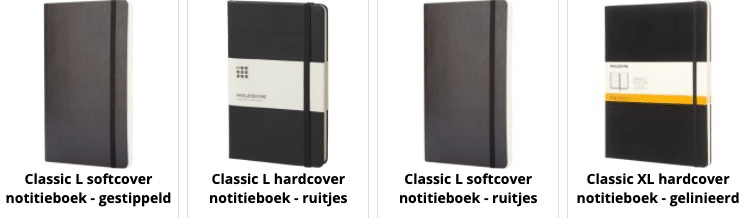 Notebooks Made in Europe. Also printed with your own logo.