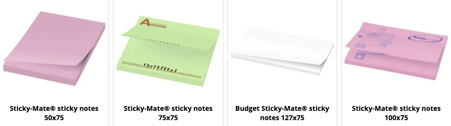 Sticky notes made in Europa