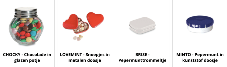 Sweets made in Europe
